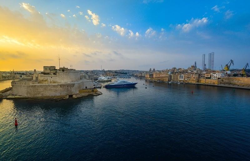 malta-sunset-harbour