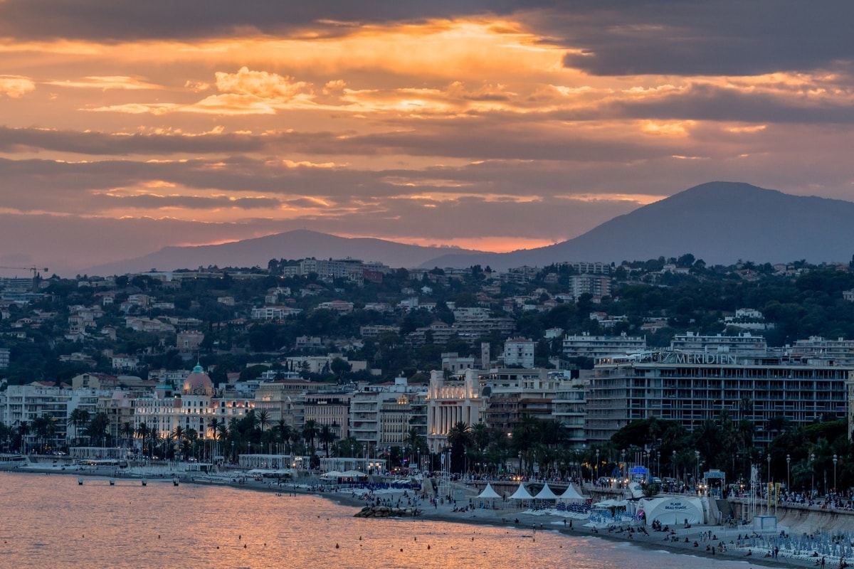 Nice France Sunset